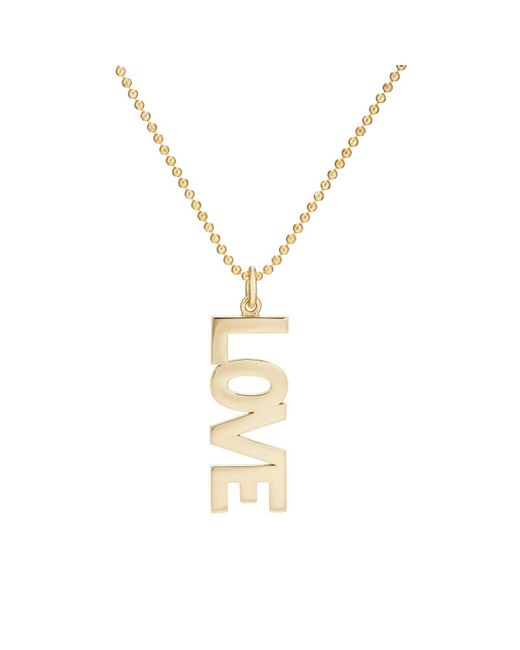 Jennifer Meyer - Metallic love Pendant Necklace - Lyst