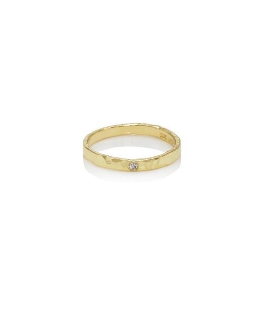 Jennifer Meyer - Metallic Diamond-accented Hammered Ring - Lyst
