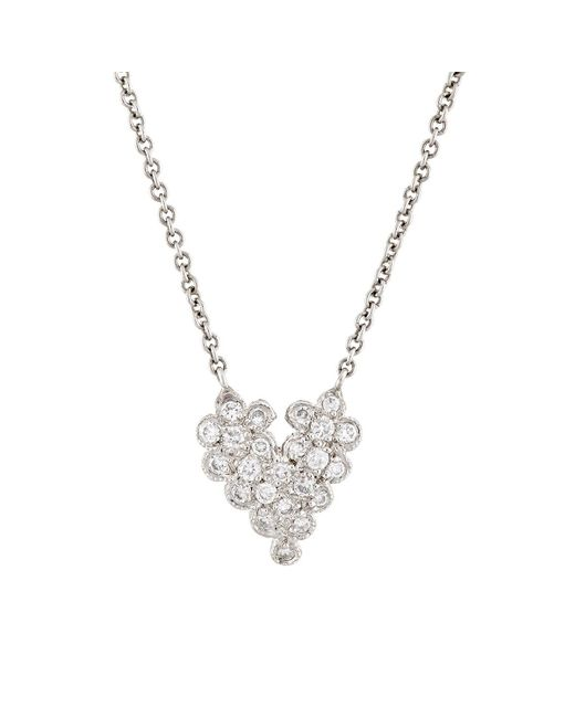 Cathy Waterman | Metallic Scalloped Heart Pendant Necklace | Lyst