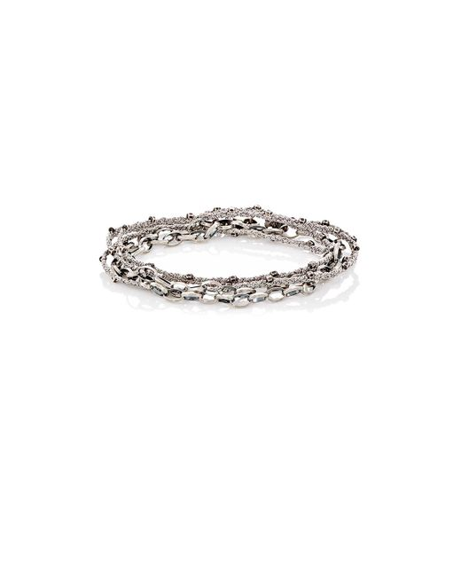 Feathered Soul - Metallic #greystoke Wrap Bracelet for Men - Lyst