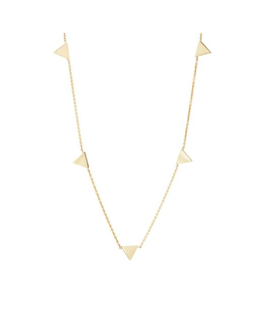 Jennifer Meyer - Metallic Triangle Charms On Chain Necklace - Lyst