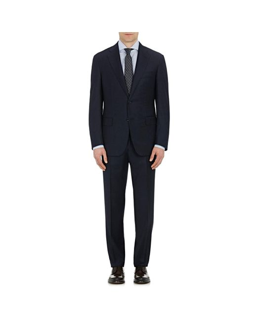 Barneys New York Blue Kappa Wool Two-button Suit for men