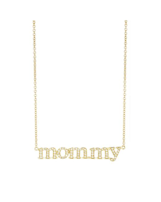 Jennifer Meyer - White mommy Pendant Necklace - Lyst