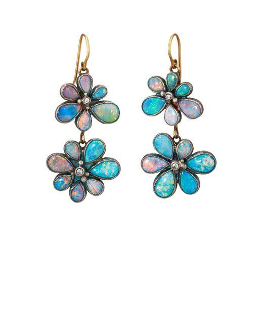 Judy Geib - Metallic Wildflower Double-drop Earrings - Lyst