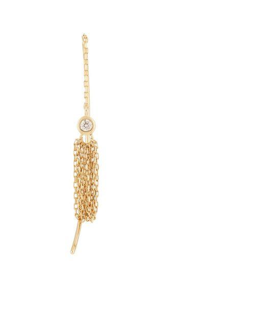 Hirotaka - Metallic Crinoid Short Tassel Earring - Lyst