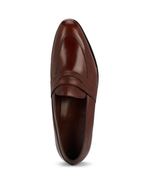 bf316e2aeeb ... John Lobb - Brown Adley Calfskin Penny Loafers for Men - Lyst