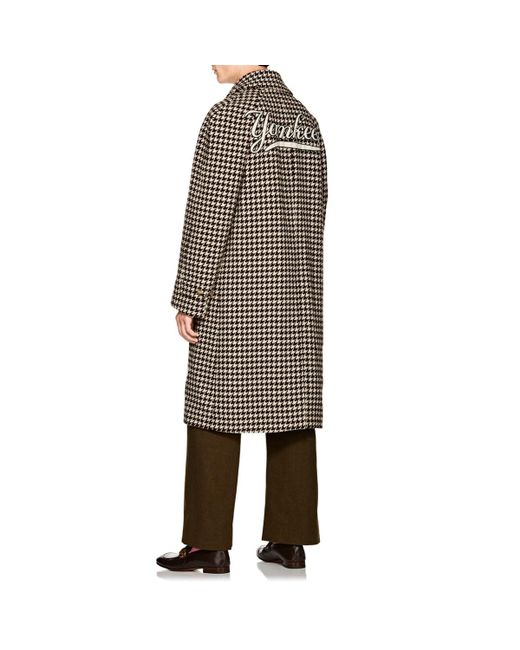 043d06079dd4 ... Gucci - Brown Ny Yankeestm Houndstooth Wool Coat for Men - Lyst ...