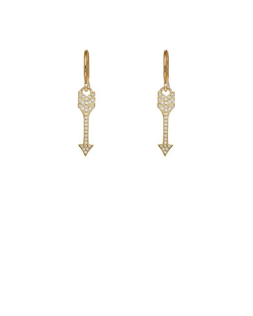 Jennifer Meyer - White Arrow Earrings - Lyst