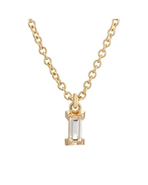 Ileana Makri | Metallic Baguette White Diamond Pendant Necklace | Lyst