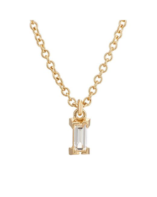 Ileana Makri - Metallic Baguette White Diamond Pendant Necklace - Lyst