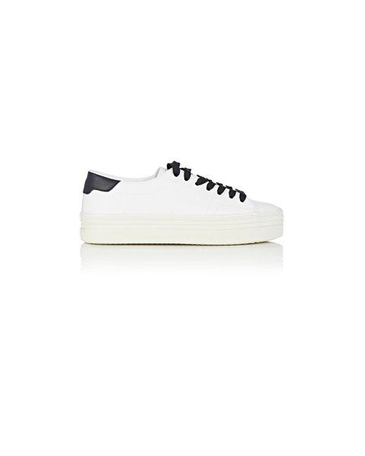 Saint Laurent | White Court Classic Leather Platform Sneakers | Lyst