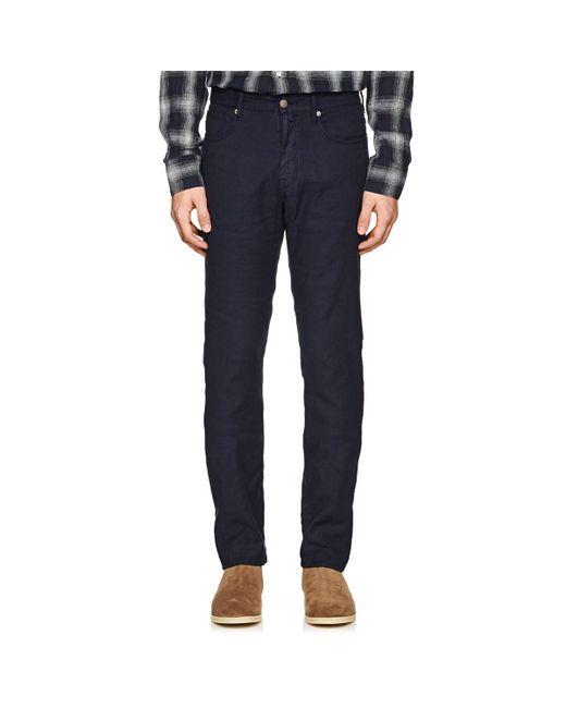 Incotex - Blue Ray 5-pocket Linen-blend Pants for Men - Lyst