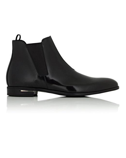 Prada - Black Chelsea Boot for Men - Lyst