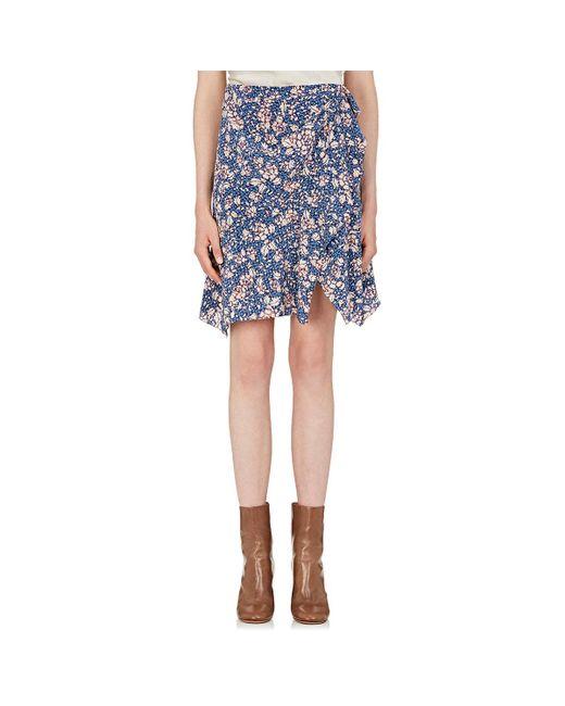 Isabel Marant - Blue Becka Floral Silk - Lyst