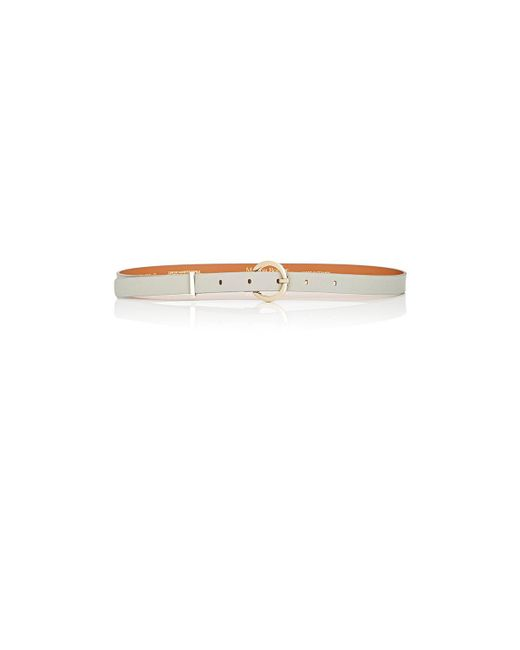 Maison Boinet | Gray Nappa Leather Skinny Belt | Lyst