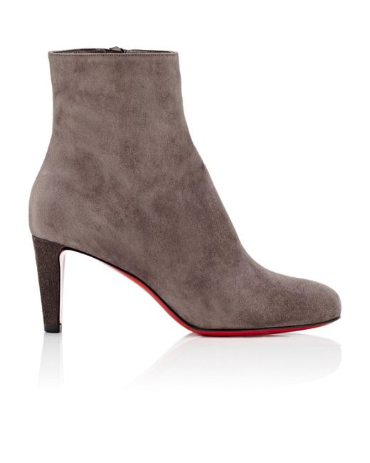 Christian Louboutin | Brown Top Suede Ankle Boots | Lyst