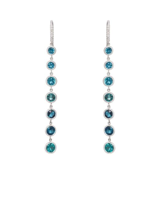 Finn - Metallic Tourmaline Cascade Earrings - Lyst