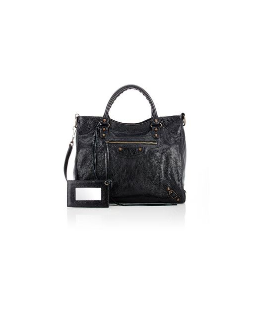 Balenciaga | Black Arena Leather Classic Velo Bag | Lyst