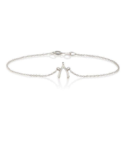 Jennifer Meyer | Metallic Wishbone Charm Bracelet | Lyst