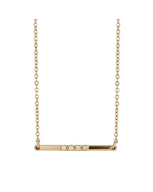 Loren Stewart | Metallic Baby Bar Pendant Necklace | Lyst