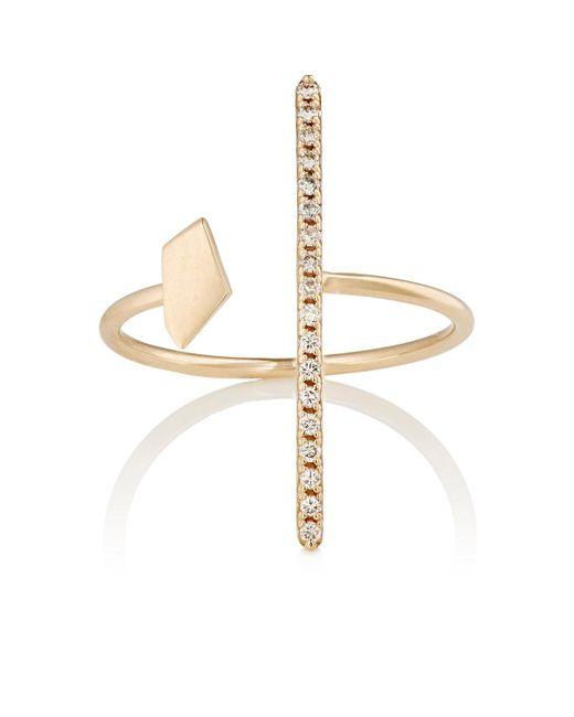 Hirotaka | Metallic White Diamond & Yellow Gold Ring | Lyst