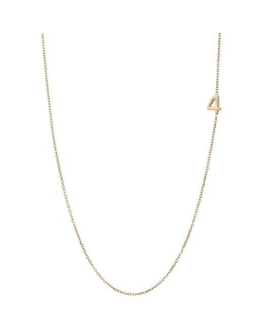 Bianca Pratt | Metallic Number Charm Necklace | Lyst