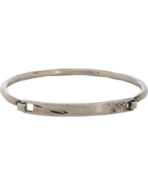 Werkstatt:münchen | Metallic Silver Distressed Id Plate Bracelet for Men | Lyst