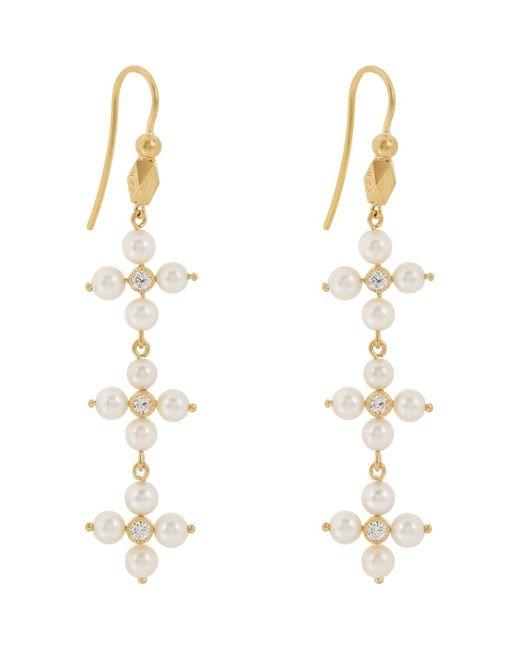Cathy Waterman | Metallic Diamond & Pearl Triple | Lyst