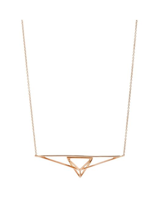 Monique Péan | Metallic Rose Gold Geometric Pendant Necklace | Lyst