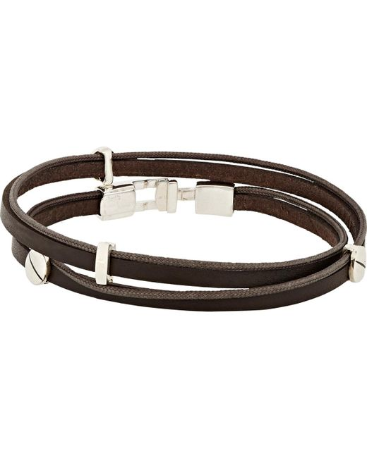 Zadeh | Brown Gavriel Wrap Bracelet for Men | Lyst