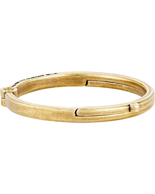 Giles & Brother | Metallic Latch Cuff Bangle for Men | Lyst