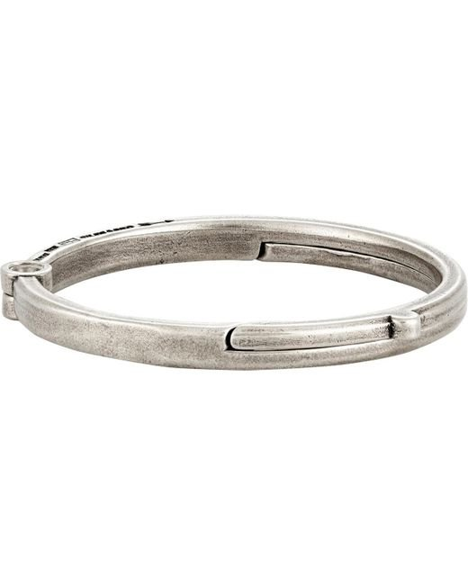 Giles & Brother | Metallic Latch Cuff Bracelet for Men | Lyst