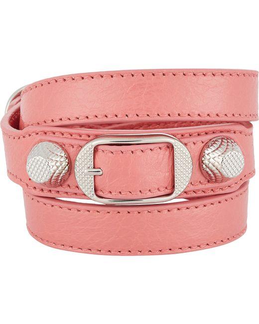 Balenciaga | Pink Arena Giant Double Tour Bracelet | Lyst