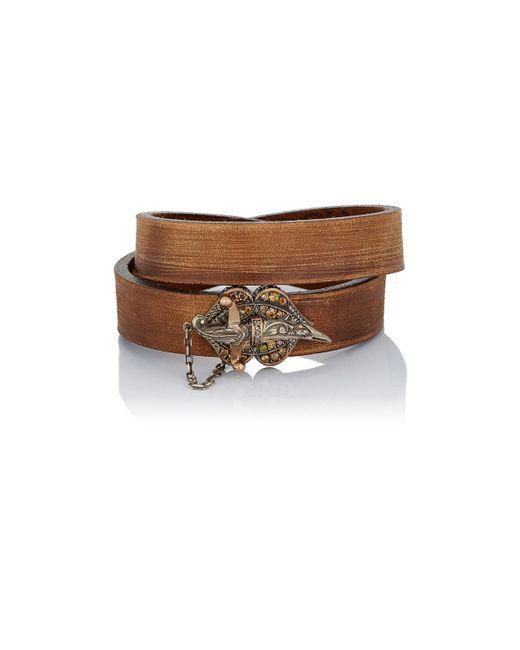 Sevan Biçakci | Brown Leather Wrap Bracelet With Dagger Closure | Lyst
