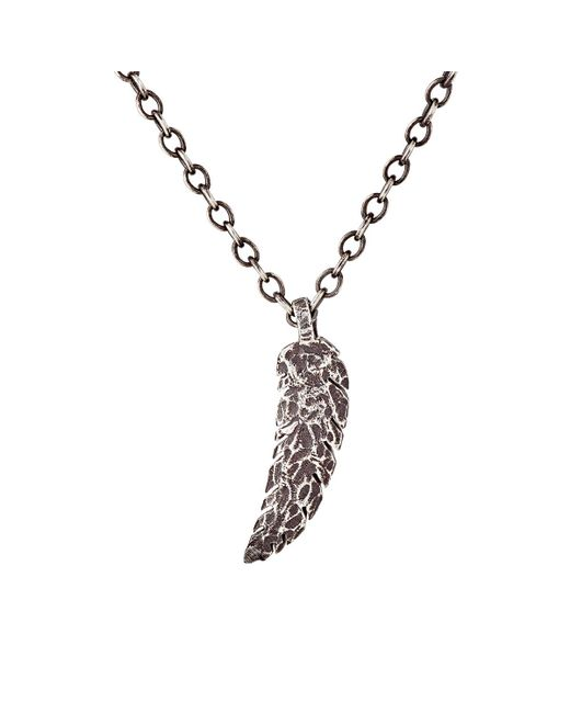 Feathered Soul | Metallic Feather Pendant Necklace | Lyst
