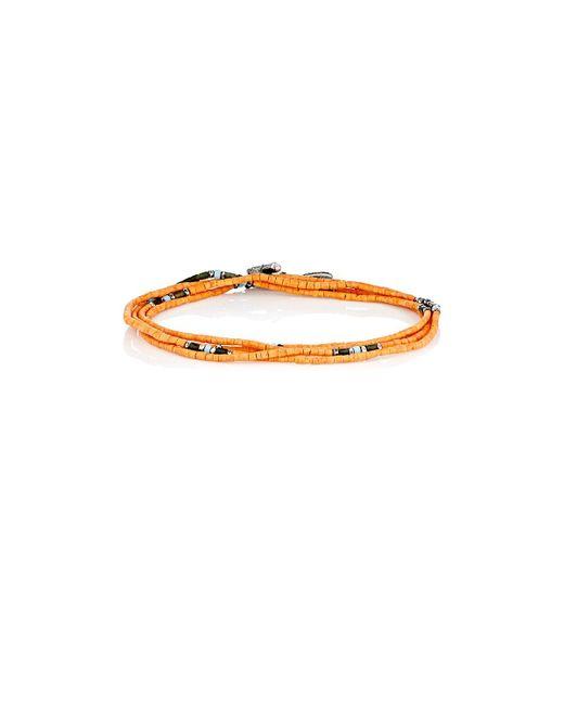 M. Cohen | Metallic Wrap Bracelet & Beaded Necklace for Men | Lyst