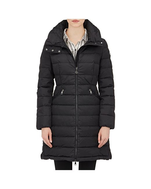 Moncler | Black Flammette Quilted Down Coat  | Lyst
