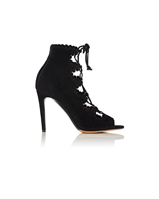 Tabitha Simmons   Black Farraday Suede Ankle Booties   Lyst