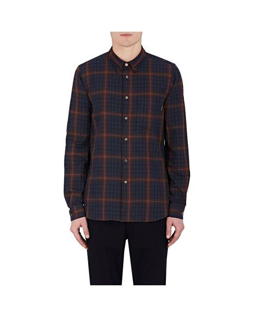 PS by Paul Smith | Red Plaid Cotton Button for Men | Lyst