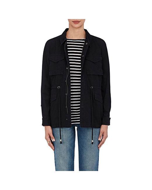 Barneys New York | Black Cotton Canvas Jacket | Lyst