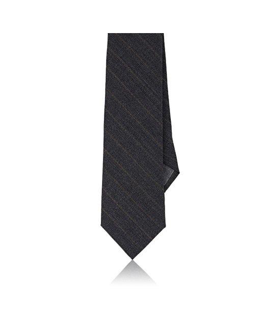 Brunello Cucinelli | Gray Striped Wool Necktie for Men | Lyst