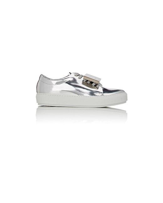 Acne | Metallic Adriana Specchio Leather Sneakers | Lyst