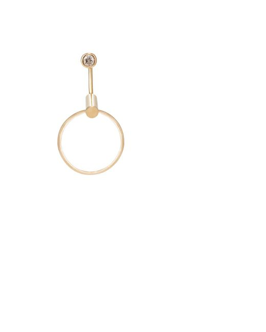 Hirotaka   Metallic White Diamond & Yellow Gold Earring   Lyst