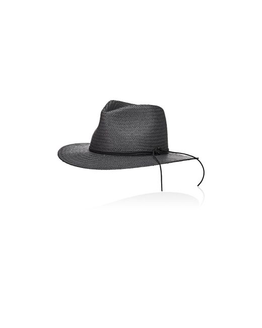 Rag & Bone | Black Packable Straw Fedora | Lyst