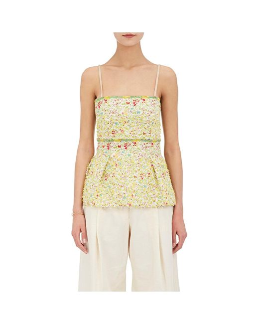 By. Bonnie Young | Multicolor Floral-embellished Silk | Lyst