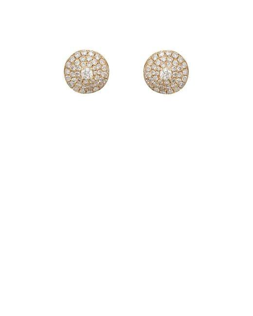 Zoe   White Diamond Dome Stud Earrings   Lyst