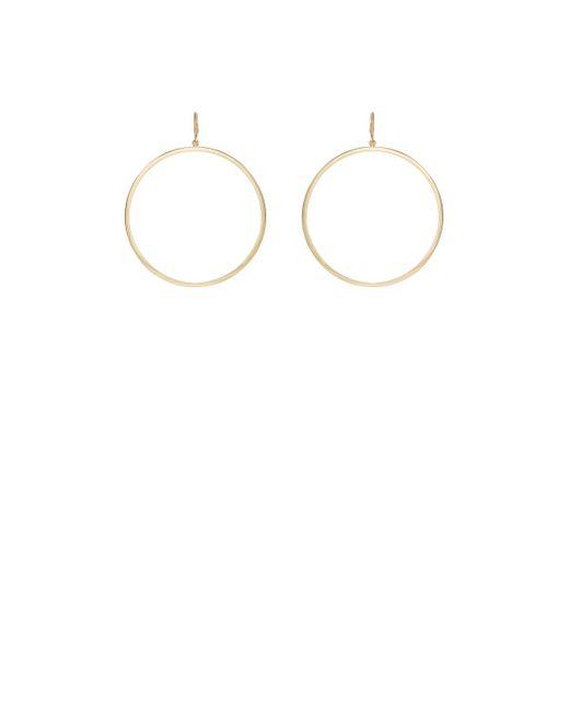 Jennifer Meyer | Metallic Open Circle Hoop Earrings | Lyst