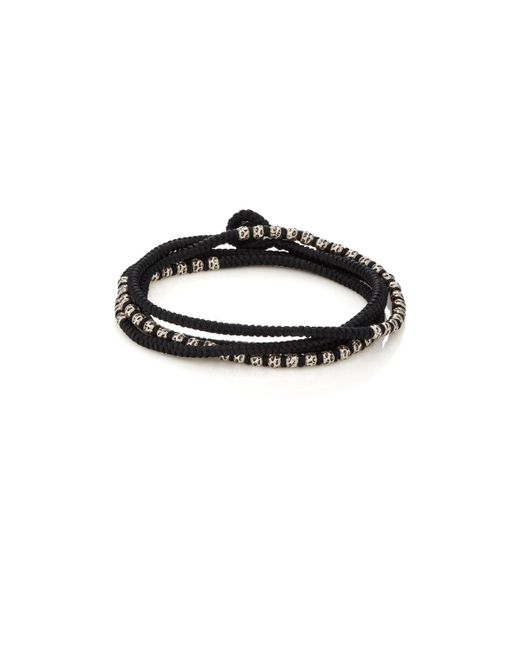 M. Cohen | Black Beads On Knotted Cord Wrap Bracelet | Lyst