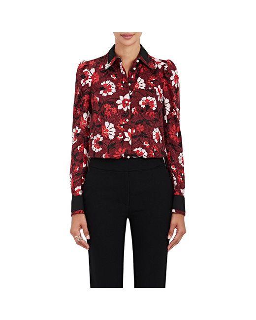 Altuzarra | Red Marlowe Floral Silk Blouse | Lyst