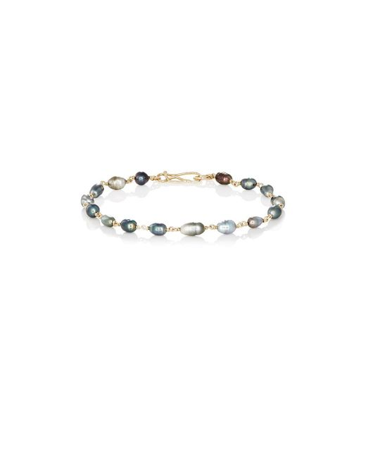 Dean Harris | Gray Keshi Pearl Bracelet for Men | Lyst